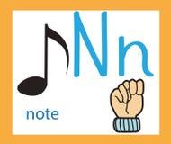 Szyldowy język i abecadło kreskówka listowy n ilustracji