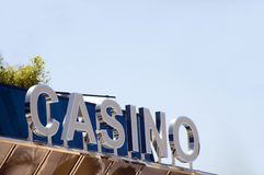 Szyldowy kasynowy Cannes Francja Francuski Riviera Zdjęcie Stock