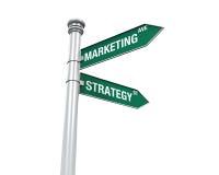 Szyldowy kierunek marketing i strategia Obraz Royalty Free