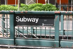 szyldowy metro Obrazy Stock
