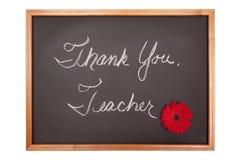 szyldowy nauczyciel dziękować ty Obraz Stock