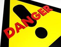 szyldowy niebezpieczeństwa ostrzeżenie Fotografia Stock