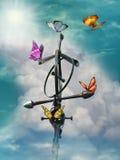 szyldowy niebo royalty ilustracja