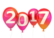 Szyldowy nowy rok 2017 na balonie Obrazy Stock