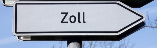 Szyldowy obowiązek, Zoll w niemiec obraz stock