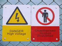szyldowy ostrzeżenie Fotografia Royalty Free