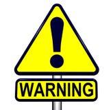 szyldowy ostrzeżenie Zdjęcia Royalty Free