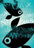 szyldowy Pisces zodiak Obraz Royalty Free