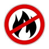 Szyldowy pożarniczy zakaz - akcyjny wektor Zdjęcie Royalty Free