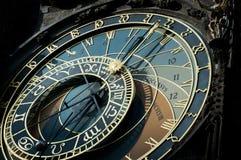 szyldowy Prague astronomiczny zegarowy zodiak Obraz Royalty Free