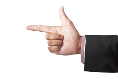 szyldowy ręka symbol Obrazy Royalty Free