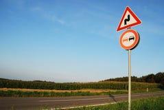 szyldowy ruch drogowy Fotografia Stock