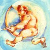 szyldowy sagittarius zodiak Obrazy Stock