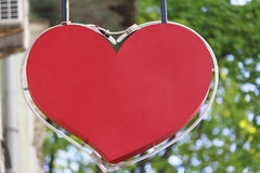 Szyldowy sklep w postaci czerwonych serc Obraz Royalty Free