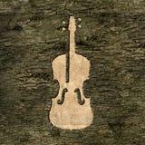Szyldowy skrzypce na barkentynie ilustracji