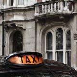 szyldowy taxi Obrazy Royalty Free