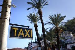 szyldowy taxi Zdjęcie Royalty Free