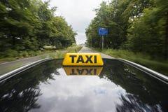 szyldowy taxi Obrazy Stock