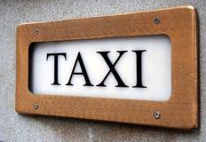 szyldowy taxi Zdjęcia Royalty Free