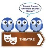 szyldowy theatre Fotografia Stock