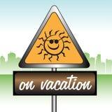 szyldowy wakacje ilustracja wektor