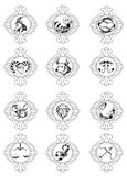 szyldowy wektorowy zodiak Zdjęcie Royalty Free