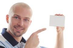 szyldowy wizytówka biel Zdjęcie Stock
