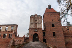 Szymbark城堡在波兰 库存照片