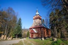 Деревянная церковь в Szymbark, Польше Стоковое Изображение