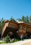 Szymbark Haus auf Dach Lizenzfreie Stockbilder