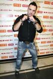 Szymon Wydra. Polish singer Szymon Wydra during Zlote Dzioby of radio Wawa awards, Warsaw 10-11-2008 stock image