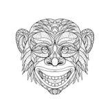Szympans głowa Zentagle ilustracji
