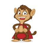 Szympans kreskówki maskotka jest ubranym przylądek ilustracja wektor