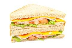 szynka kanapka zdrowa. Obraz Royalty Free
