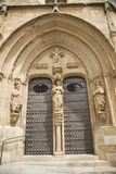 Szynszylowy kościelny drzwi Fotografia Royalty Free