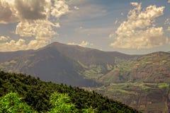 Szyszkowy kształt Tungurahua wulkan, Ekwador Obrazy Stock