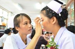 Tืlo studente di professione d'infermiera di hai compone Immagini Stock