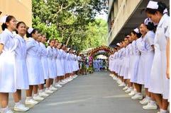 Tืstudente di professione d'infermiera di hai Fotografia Stock Libera da Diritti