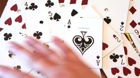 Tábula rasa de tarjetas almacen de video