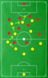 Táctica acertadas del fútbol Fotografía de archivo
