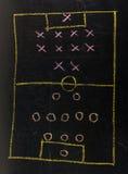 Táctica de la formación del fútbol Imagen de archivo libre de regalías