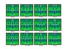 Táctica del fútbol Fotos de archivo libres de regalías