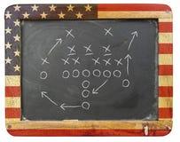 Táctica del fútbol americano Foto de archivo