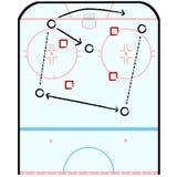 Táctica del hockey stock de ilustración