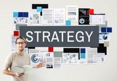 Táctica estratégicas de Strategize de la estrategia que planean concepto Imágenes de archivo libres de regalías