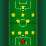 Táctica y estrategia del fútbol Fotos de archivo
