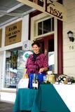 TÁMESIS - 17 DE AGOSTO: Atasque el tenedor en el día de mercado del Támesis en agosto Foto de archivo
