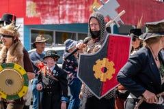 Támesis, Waikato - 10 de noviembre: Desfile punky del vapor el 10 de noviembre de 2018 en la calle principal del Támesis en Nueva fotos de archivo libres de regalías