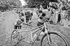 Tándem campo a través de Cyclocross Fotos de archivo