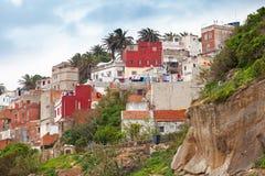 Tánger, Marruecos Casas vivas viejas en Medina fotografía de archivo